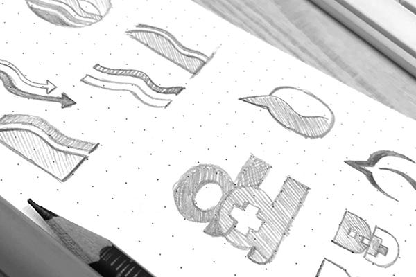 Meddcare Logo - Process Sketches