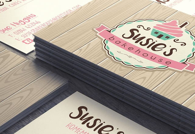 Susie's Bakehouse - Business Cards