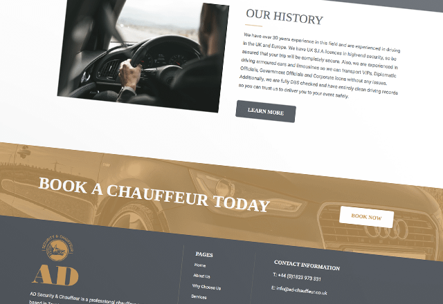 Chauffeur Business Website