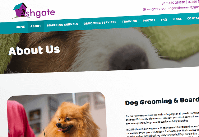 Ashgate grooming Dog Grooming Company Website