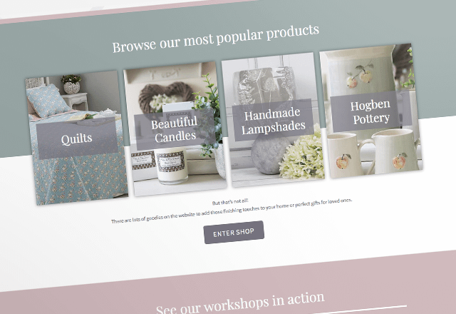 Fallow and Fern Soft Furnishings e-Commerce Website