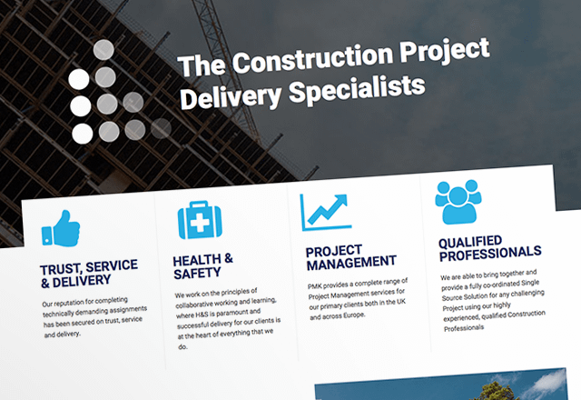 PMK Consult Construction Management Business Website