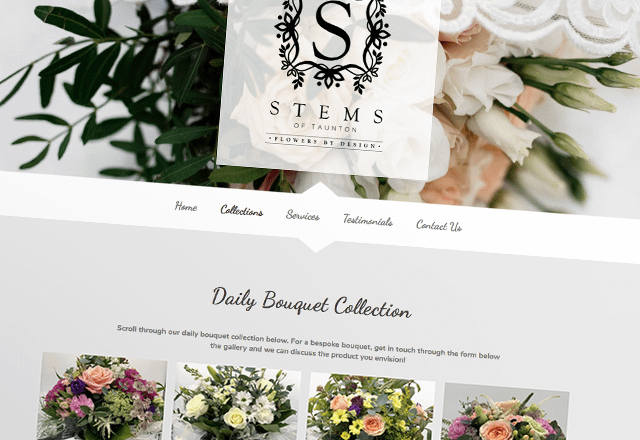 Stems Floristry Company Website