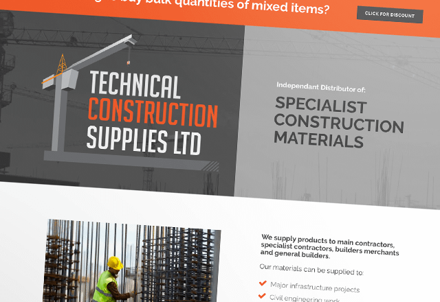 Tech Con Supplies Construction Supplies Website