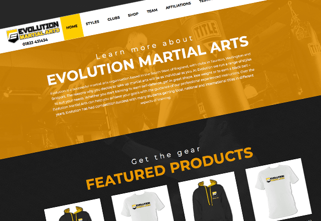 Evolution Martial Arts - Website