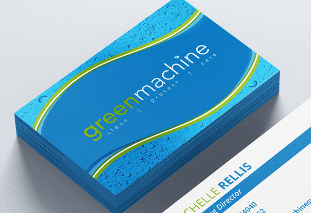Green Machine - Business cards