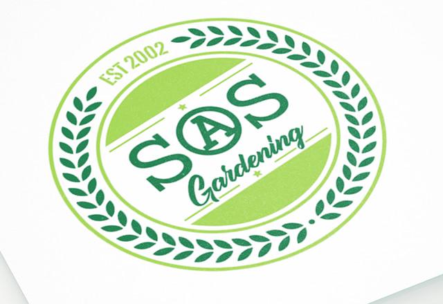 SOS Gardening Logo Design