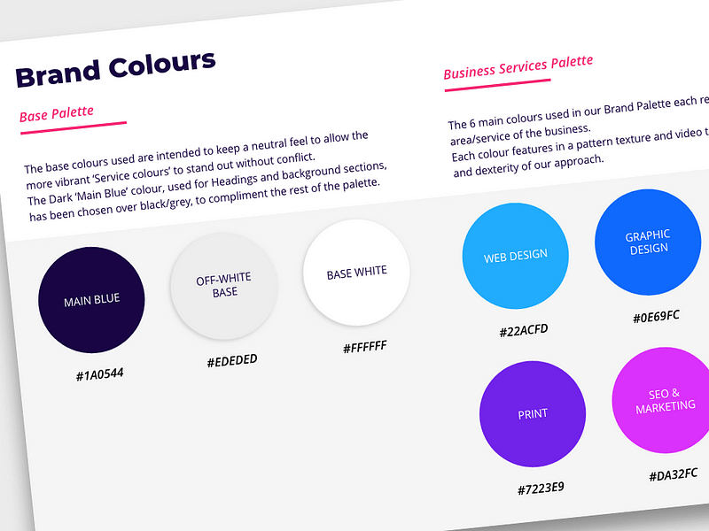 Brand Guidelines Colours