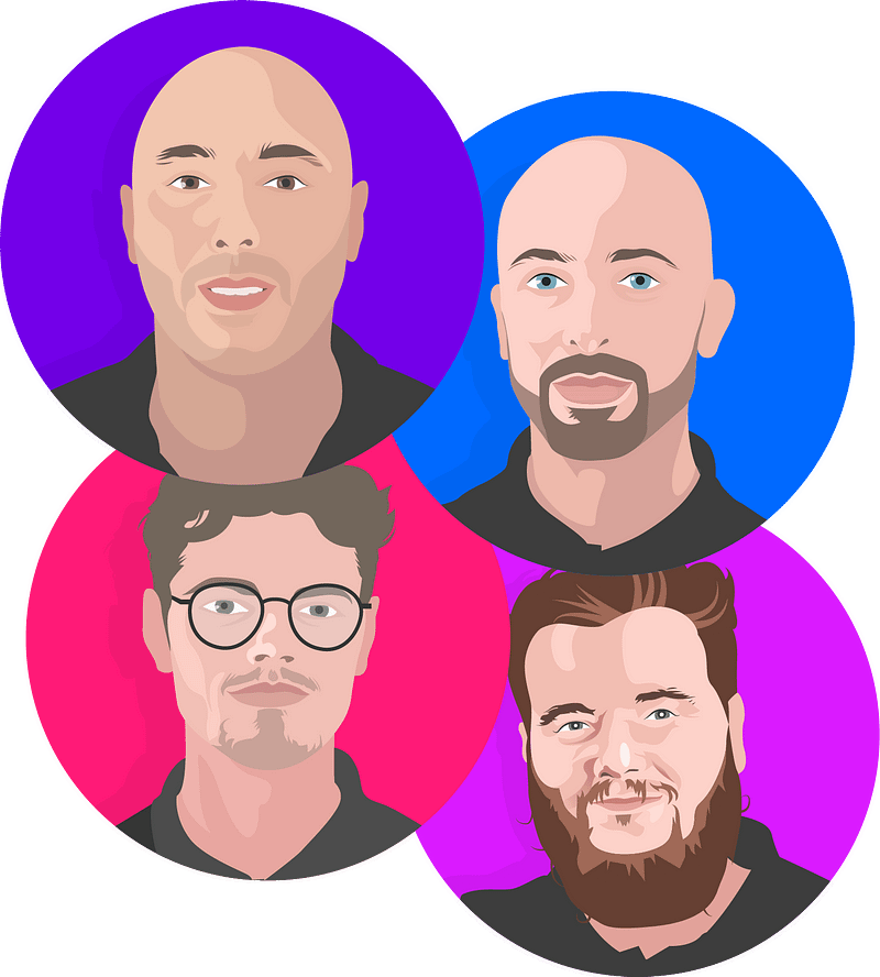 Team Profile Illustrations